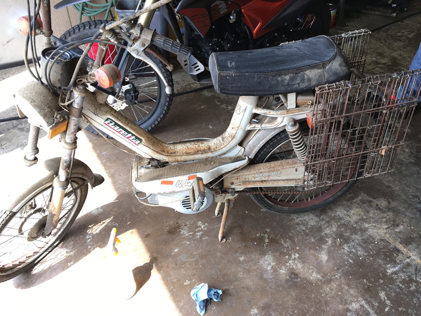 Baretta 44 Cafe Racer Moped Project
